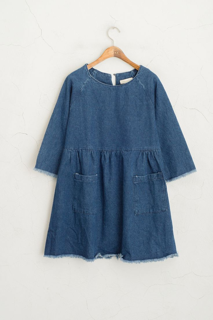 Olive - Cutting Edge Sleeve Denim Baby-Doll Dress, Dark Blue, £59.00 (http://www.oliveclothing.com/p-oliveunique-20160314-034-darkblue-cutting-edge-sleeve-denim-baby-doll-dress-dark-blue)