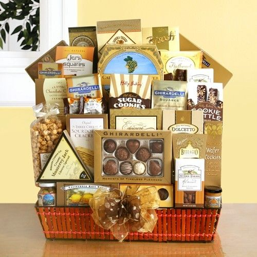 31 best graduation day gift baskets images on pinterest gift luxurious ghirardelli gift basket of gourmet treats negle Images
