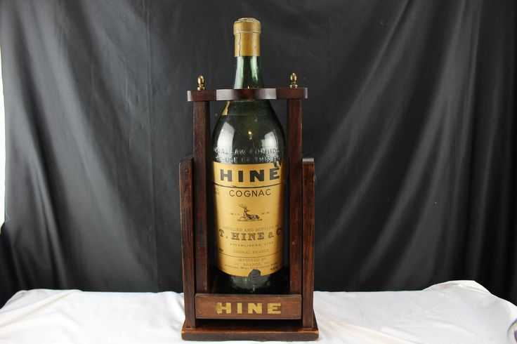 Antique Hine Cognac 1Gal. Bottle with Point of Sale Advertising Display Dispence