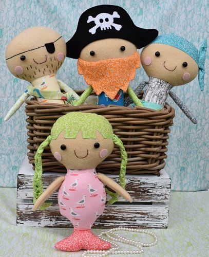 """""""Pirate Posse"""" designed by Fiona Tully for Two Brown Birds."""