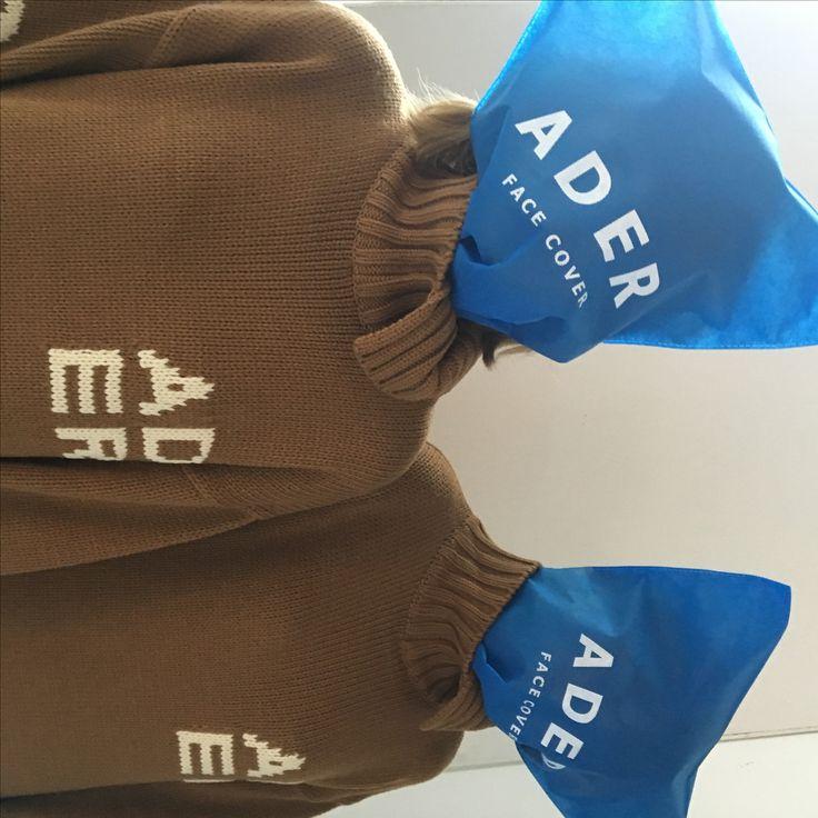Camel unbalance knit dress twin image  www.adererror.com  #ader#image#fashion#company#twin#styling