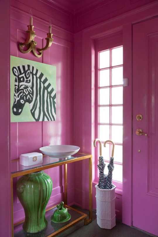 """""""Paint a small room in a bright lacquer color."""" —Amanda Reynal..... Or paint a giant room a bright colour!"""
