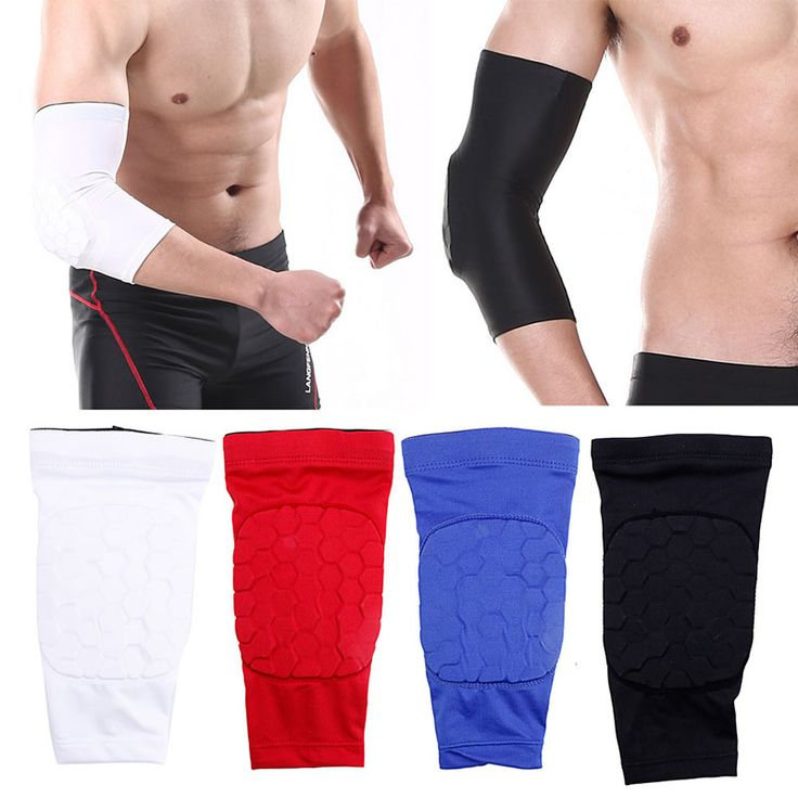 1PCS Elastic Gym Sport Basketball Arm Sleeve Shooting Crashproof Honeycomb Elbow Support Pads Elbow Protector Guard Sport Safety