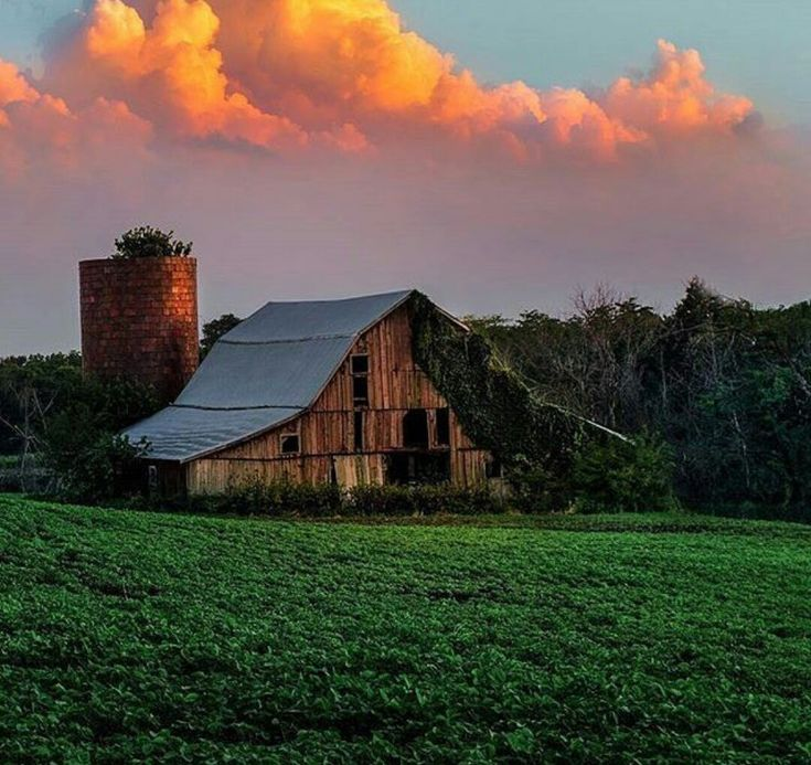 barn with gorgeous sky