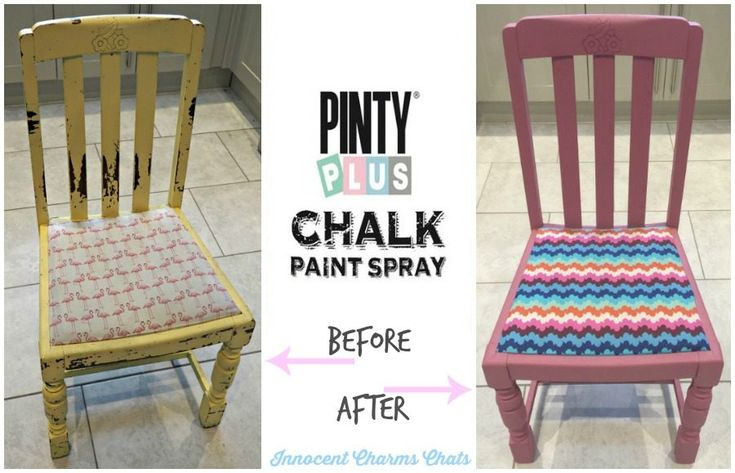 Upcycling with Pinty Plus Chalk Paint Spray.