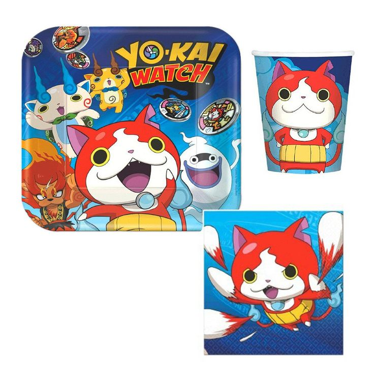 Yo-Kai Watch party Tableware - Plates, Napkins, Cups : YOKAI party supplies