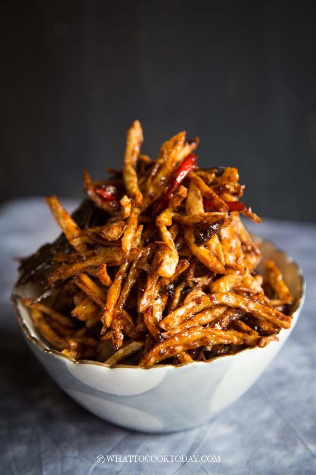Kering Kentang Garing Indonesian Spiced Crispy Fried Potatoes Recipes Food Food Inspiration