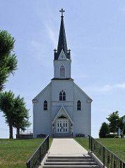Immaculate Conception Roman Catholic Church, in Augusta, Missouri, USA - exterior.jpg
