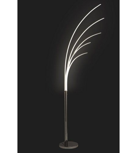 Palm Chrome 5 Light LED Floor Lamp