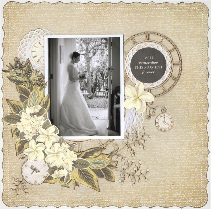 Forever.....Wedding Album - Kaisercraft - Art of Life Collection - 12 x 12 Double Sided Paper - Creative