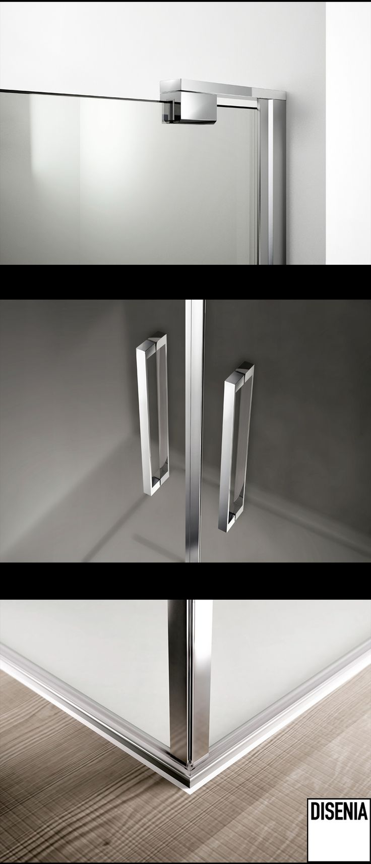 Chromed details of Slim - Disenia Shower Collection #Ideagroup #Bath #Design