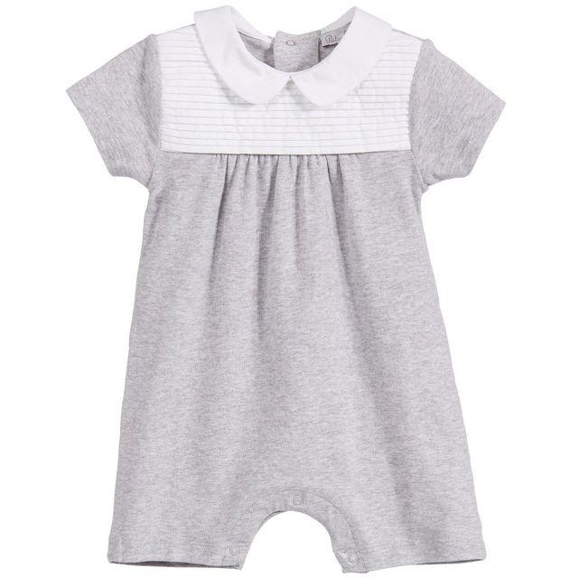 Auro mesa 100% algodão de verão a roupa do bebê recém-nascido do bebê romper do bebê cinza macacão jumper