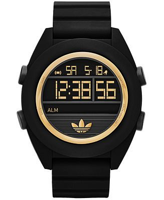 adidas Unisex Digital Calgary Black Silicone Strap Watch 50mm ADH2911 - Watches - Jewelry & Watches - Macy's