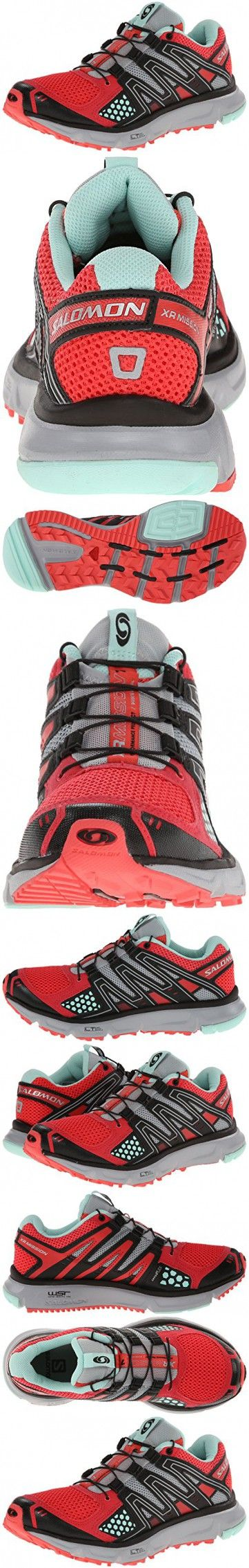 Salomon Women's XR Mission Trail Running Shoe, Papaya/Black/Igloo Blue, 6 M US