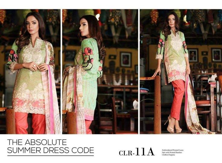 Womens Fashion Pakistani Designer Suits Haute Couture for work / Party and Casual wear- Charizma Vol.2 - Green ; Black ; Red and Cream Latest Summer Pakistani Premium Embroidered Cotton Lawn Suits with Pure Chiffon Dupatta...