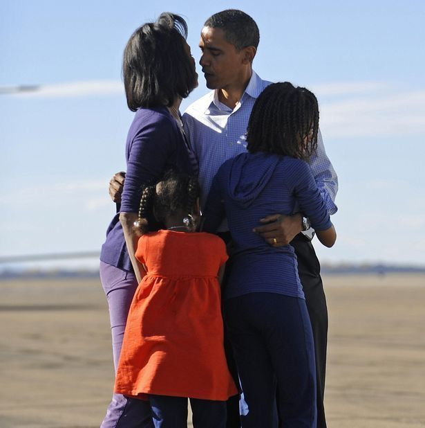 #SenatorDays #44thPresident #BarackObama his wife #FirstLady #MichelleObama and their daughters #MaliaObama & #SashaObama Barack Obama Family greeted him as he got off the plane at Pueblo Memorial Airport November 1, 2008 In Pueblo Colorado#ObamaFamily #ObamaLegacy #ObamaHistory #Obama44 #ObamaFoundation #ObamaLibrary