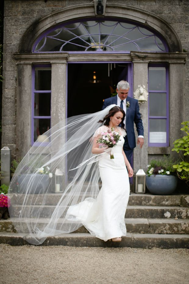Plain and simple single tier veil of ours from Myrtle Ivory Couture , Dublin. Caoimhe-and-Keith's-Millhouse-Wedding-by-Will-O-Reilly-31