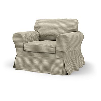 Ektorp Armchair cover Loose Fit Country - Armchair Covers   Bemz
