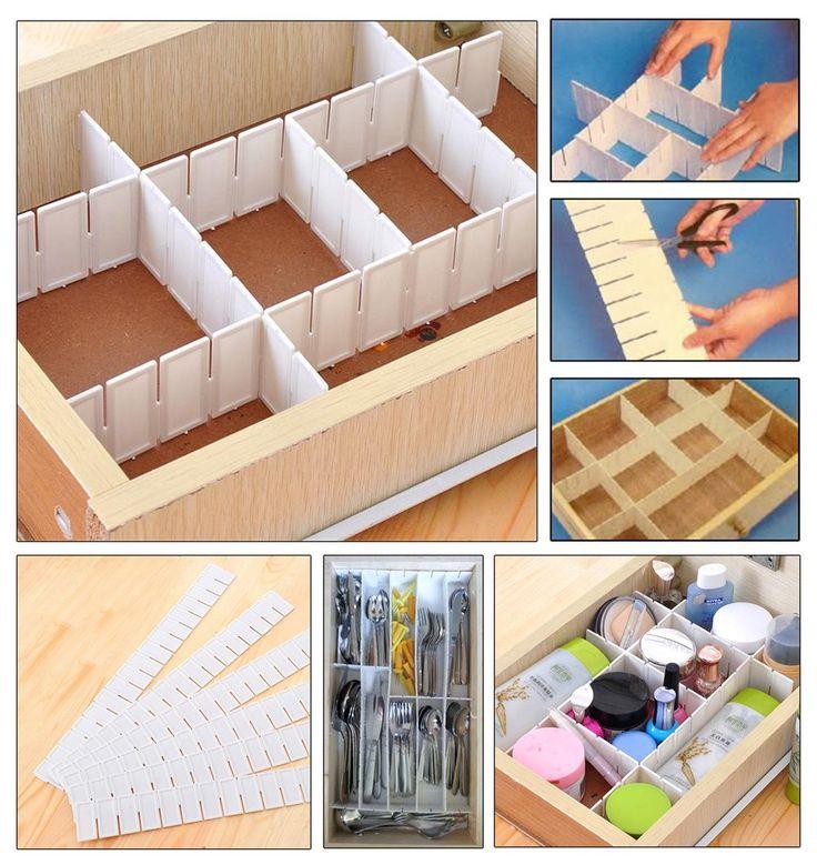 Verstellbarer Schubladentrenner, Schubladenteiler, Organizer, Schrank, Aufbewahrung, Schublade trennen