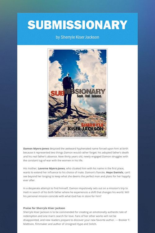Submissionary! New indie release from multi-published author, wife, mother and t…