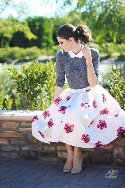 Look! Цветочные принты на юбках! 0