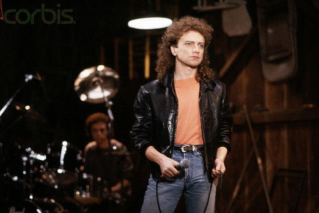 15.01.1987, Lou Gramm in Black Leather Coat, Lokalizacja:Norwalk, California, USA photo Henry Diltz