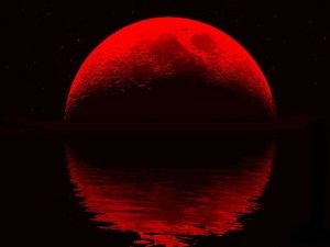 What does a blood red moon mean?