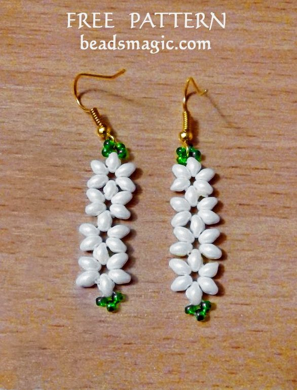 Free pattern for earrings Jasmine | Beads Magic | Bloglovin'