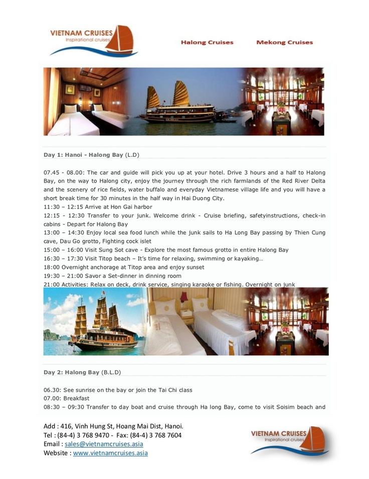 bai-tho-junks-03days by Vietnam Cruises via Slideshare