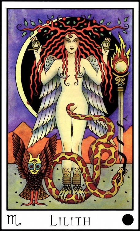 Lilith Card Oracle Moon by Caroline Smith and John Astrop. i never got why the circle and rod are so powerful...