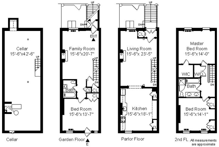 Rooftop Deck Townhouse Floor Plans House Design And
