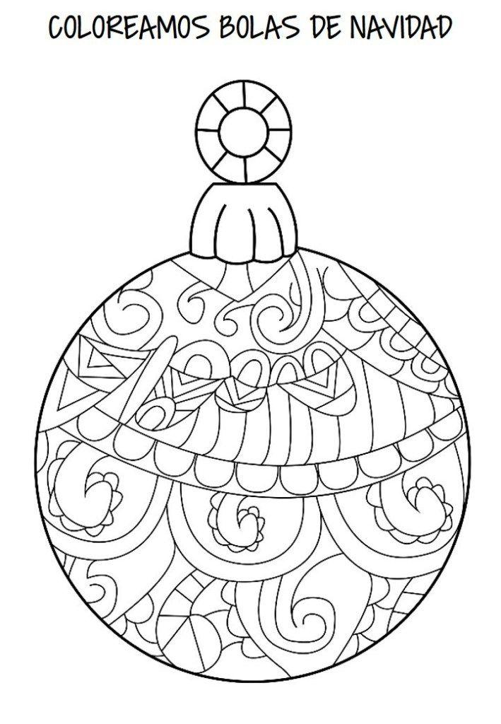 Cuaderno Para Colorear La Navidad Bolas Mandala Orientacion Andujar Dibujo De Adorno Mandalas De Navidad Mandalas Navidenas