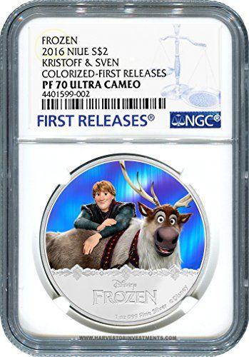 2016 NU Disney Frozen Series: Kristoff & Sven - Certified NGC PF70 FIRST RELEASES $2 PF70 NGC FIRST RELEASES @ niftywarehouse.com #NiftyWarehouse #Disney #DisneyMovies #Animated #Film #DisneyFilms #DisneyCartoons #Kids #Cartoons
