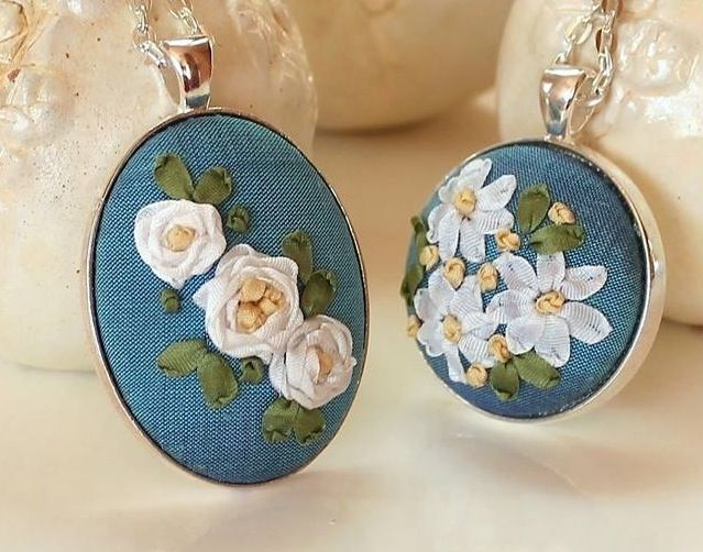 Ribbon Embroidery, Humming Needles, these are so pretty!