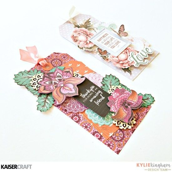 """Collection of Gift Tags by Kylie Kingham Design Team member for Kaisercraft Australia Official Blog Group Post Featuring """"Sage and Grace"""" and """"Bombay Sunset"""" two of their May 2017 collections. Learn more at kaisercraft.com.au/blog ~ Wendy Schultz ~ Tags."""
