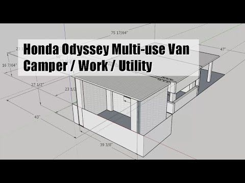 Honda Odyssey van mod - DIY camper / work / utility (plan & build phase) - YouTube