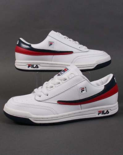 Fila #heritage #original tennis trainers in #white, navy & red - retro 80s 90s,  View more on the LINK: http://www.zeppy.io/product/gb/2/371707022182/