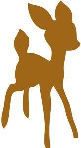 bambi silhouette - Google Search