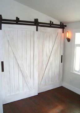 Perfect for what I have in mind.  Need two doors that bypass one another but that operate on an overhead track (rail).