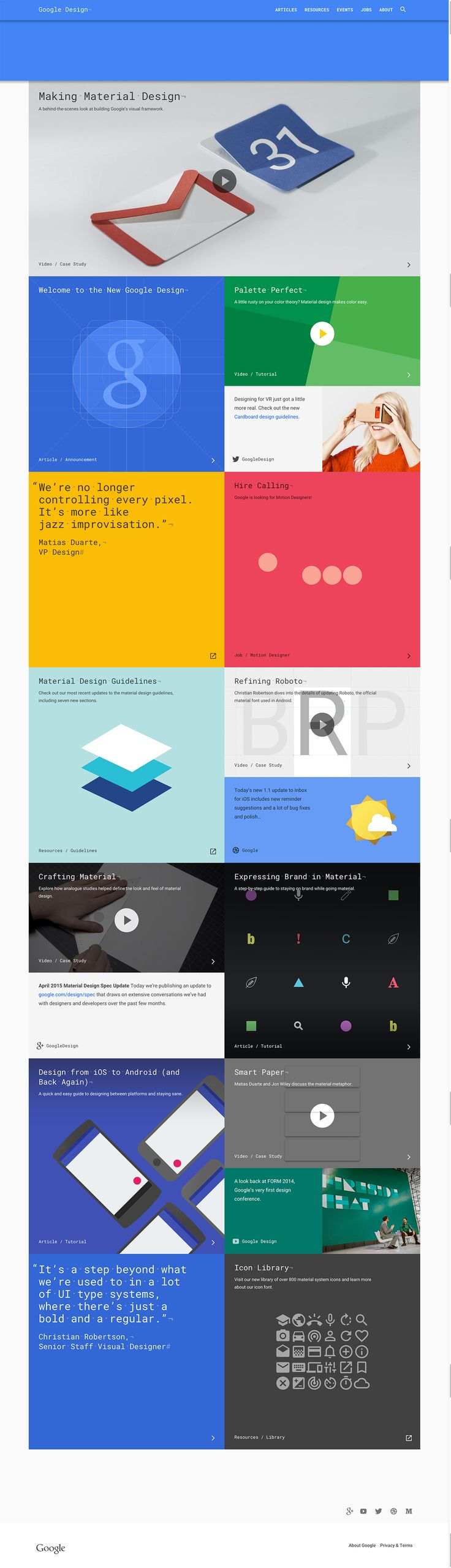 New Google Design  #materialdesign