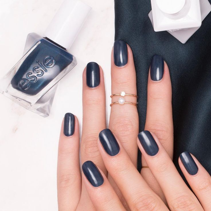 racy. rare. rich. dive into decadence and discover the heart of darkness in this magnificent deep navy. 'caviar bar' from the new essie gel couture collection.