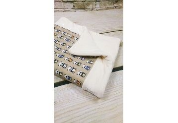 Baby Blanket Musical panda - 100%ORGANIC COTTON