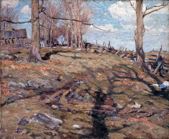 A.Y. Jackson (1882-1974), The Edge of the Maple Wood, 1910, oil on canvas,54.6 x 65.4 cm, National Gallery of Canada