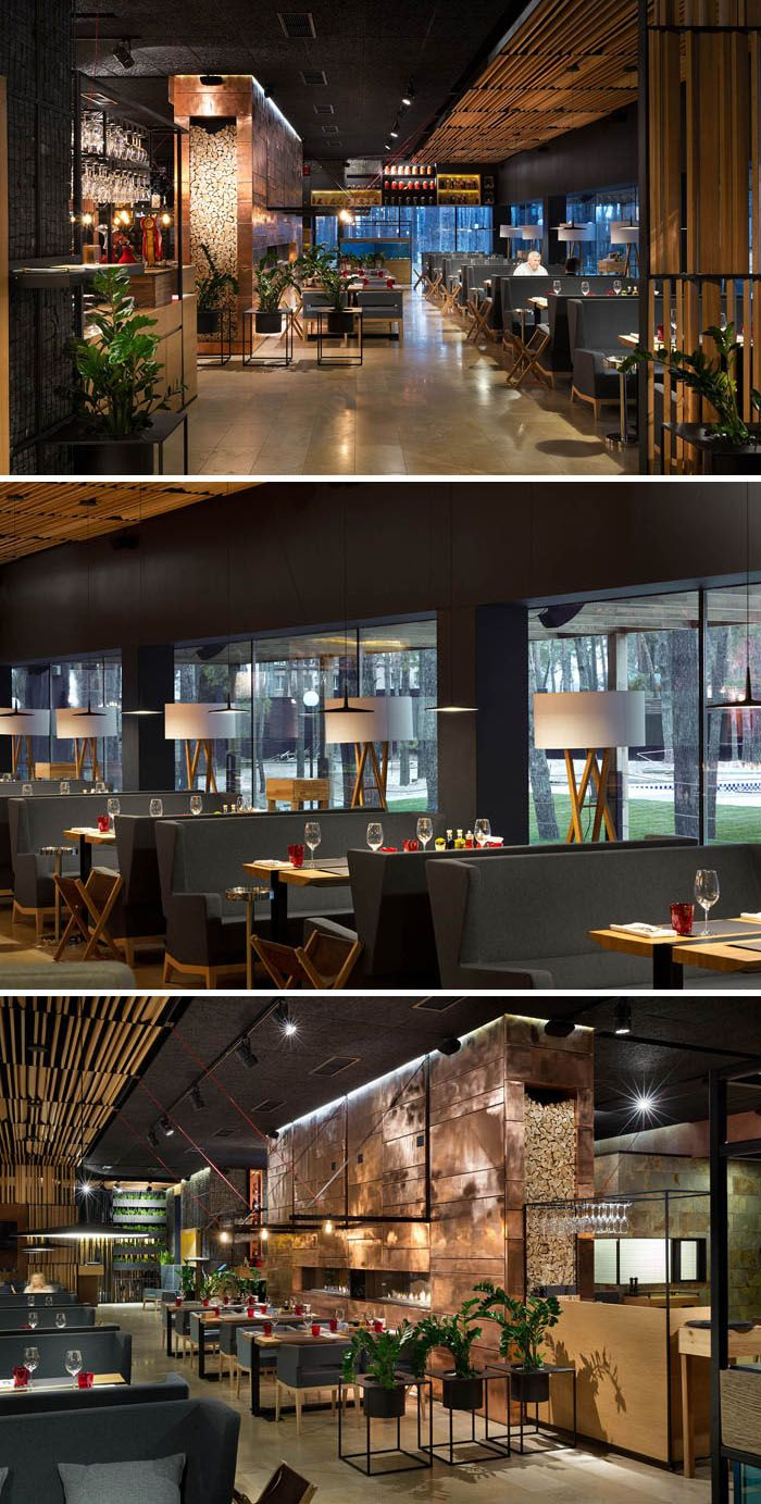 Food & Forest Restaurant by Ukraine-based YOD Design Lab, http://yoddesign.com.ua