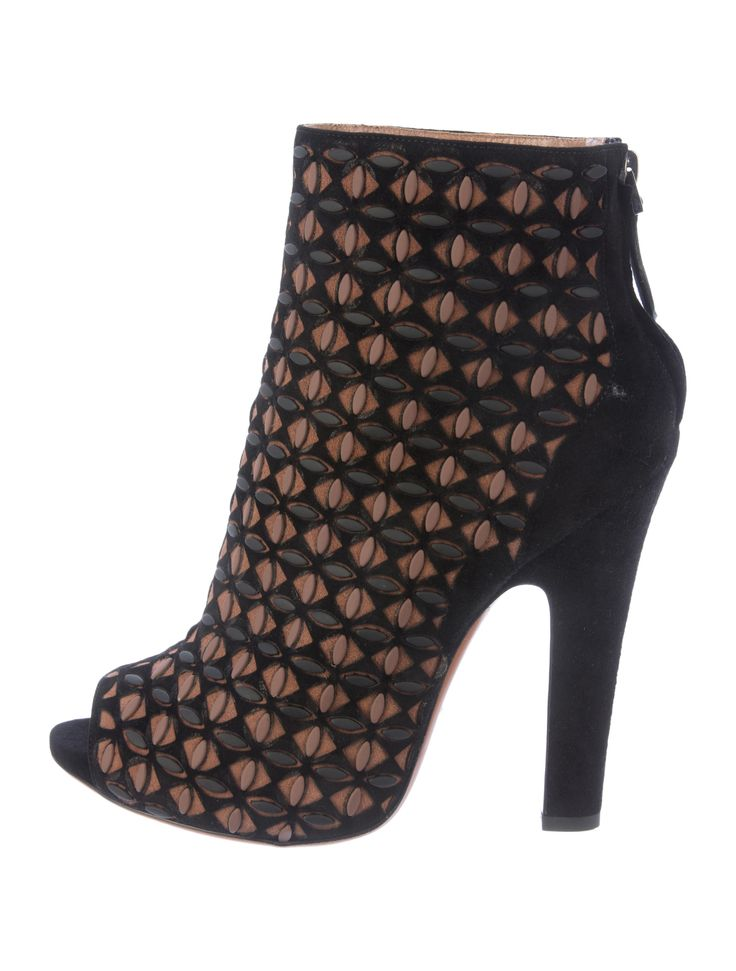 Ala?a 135MM RIVETS ON SUEDE ANKLE BOOTS KhEWiUt