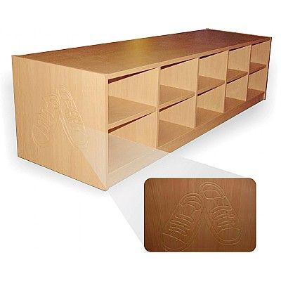 Wooden Low Level Shoe Caddy