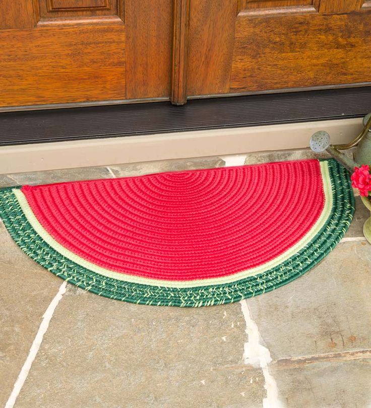 Perfect Watermelon Wedge Polypropylene Rug