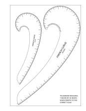 Free printable French curve labeled in inches