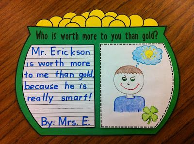 This fun, free activity will get your students excited about St. Patrick's Day while thinking about those they love {more than gold, of course}!