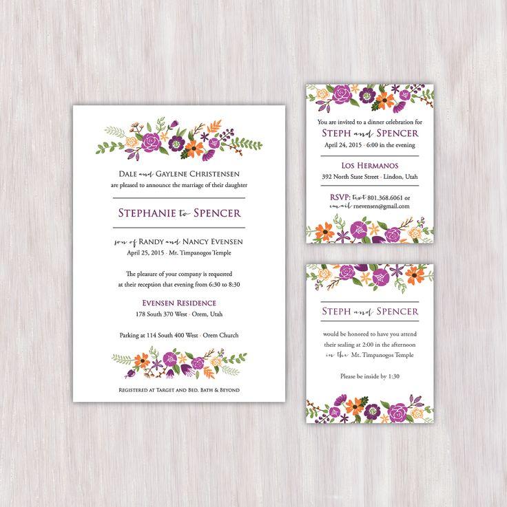 119 best Wedding Invitation Portfolio images on Pinterest | Bridal ...